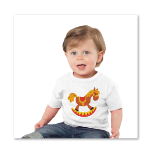 horse t-short for toddlers boy or girl
