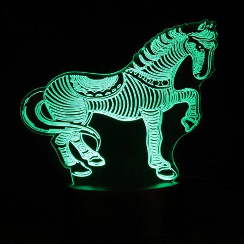 led night light horse design